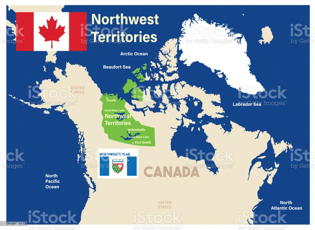 Northwest Territories Map Stock Vector Art More Images Of British
