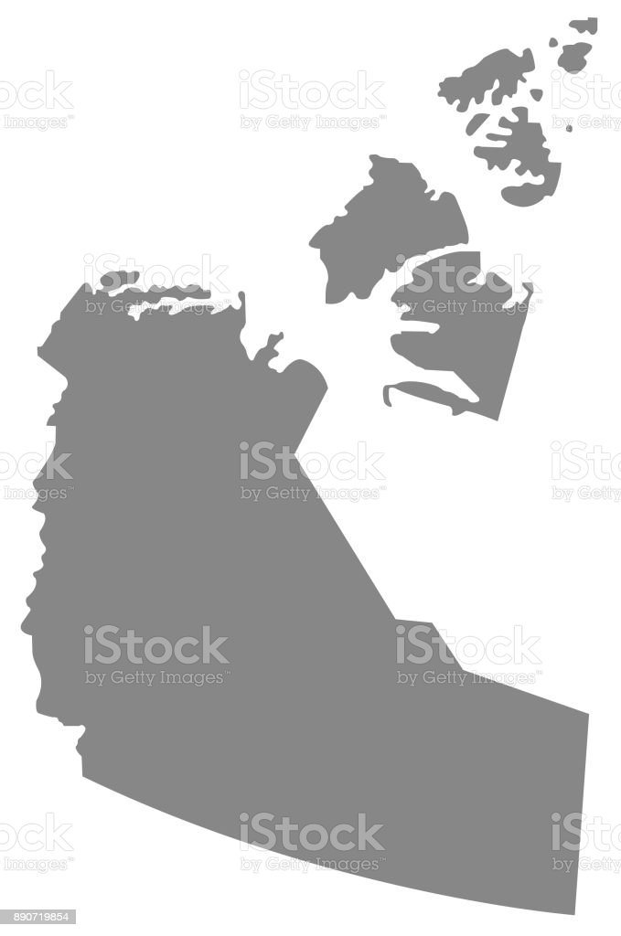 Northwest Territories Map Stock Vector Art More Images Of Canada
