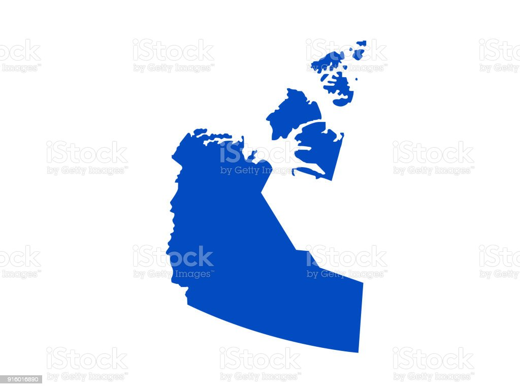 Northwest Territories Map Stock Vector Art & More Images of Canada ...