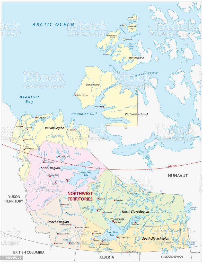 Carte Canada Nord Ouest.Territoires Du Nordouest Regions Politiques Et