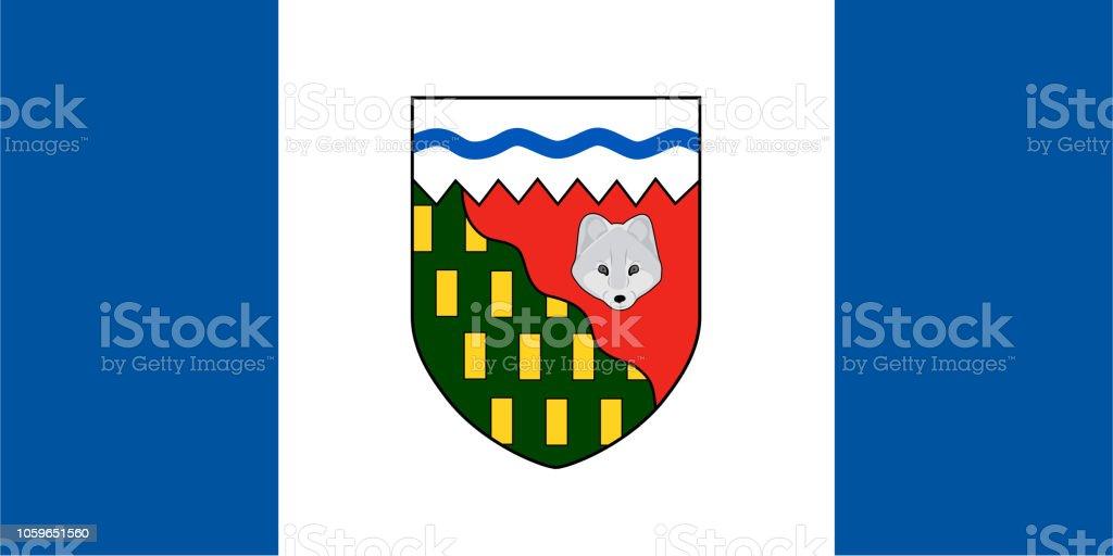 Vector bandeira de territórios do noroeste. Ilustração em vetor. Canadá - ilustração de arte em vetor