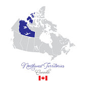 istock Northwest Territory in Canada Vector Map Illustration 1214712689
