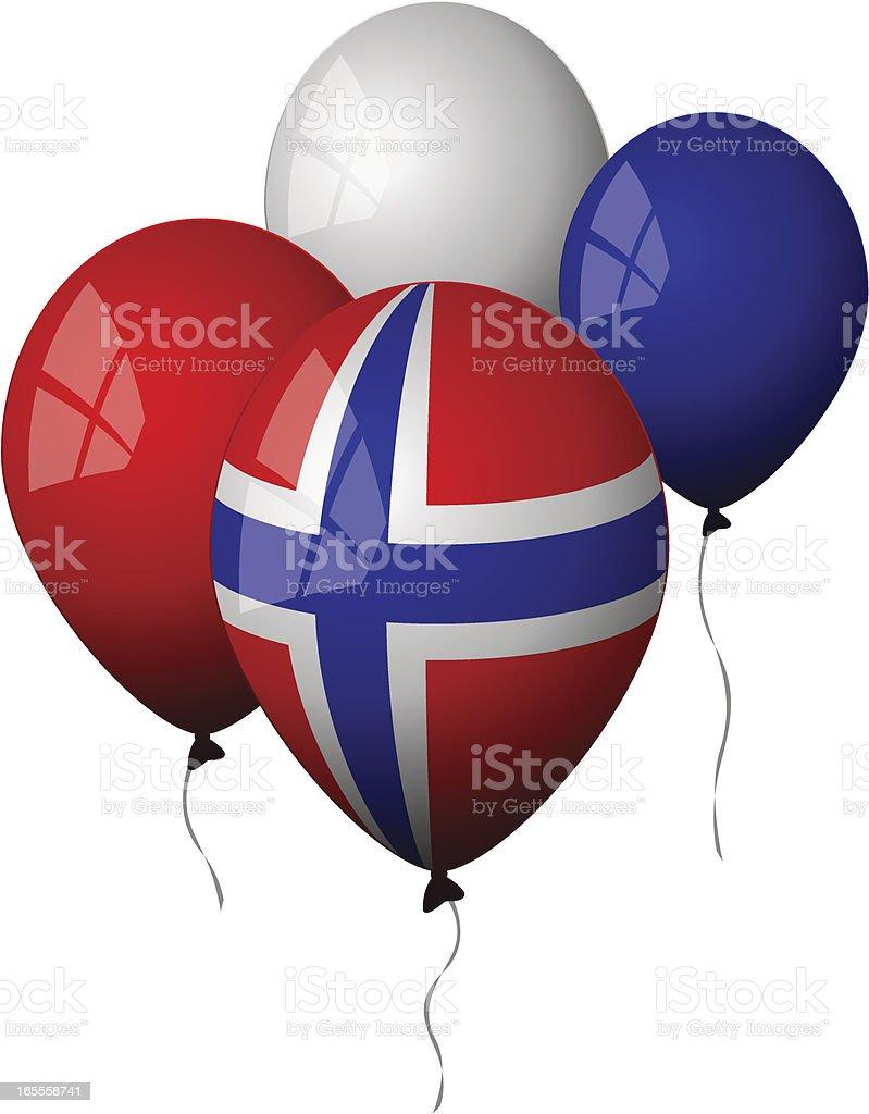 Norway - Balloons royalty-free stock vector art
