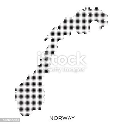 Norway Dot Halftone Pattern Map Stock Vector Art IStock - Norway map outline