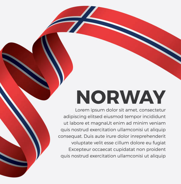 stockillustraties, clipart, cartoons en iconen met noorwegen vlag achtergrond - noorse vlag