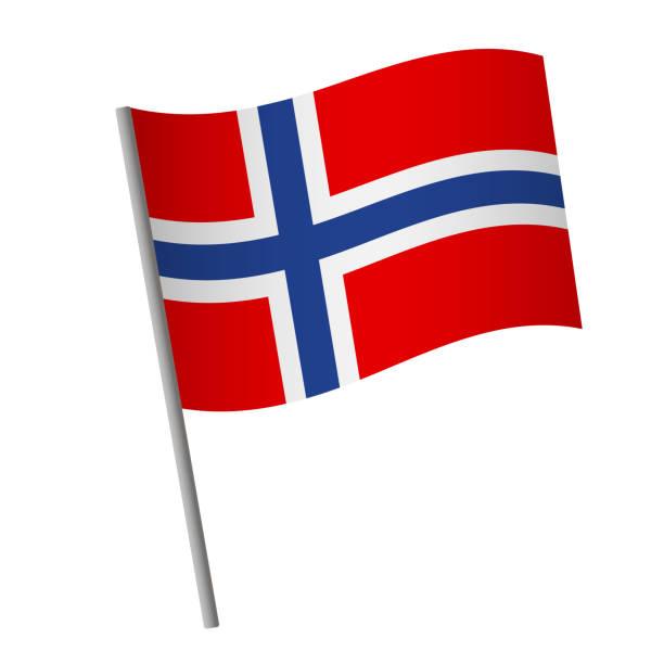stockillustraties, clipart, cartoons en iconen met het pictogram van de vlag van noorwegen. - noorse vlag