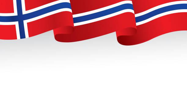stockillustraties, clipart, cartoons en iconen met vlag van noorwegen - noorse vlag