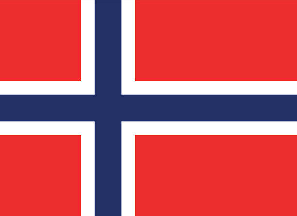 Norway Flag EPS and JPEG norway stock illustrations