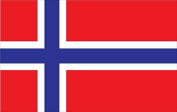 Norway flag vector illustration of Norway flag norway stock illustrations