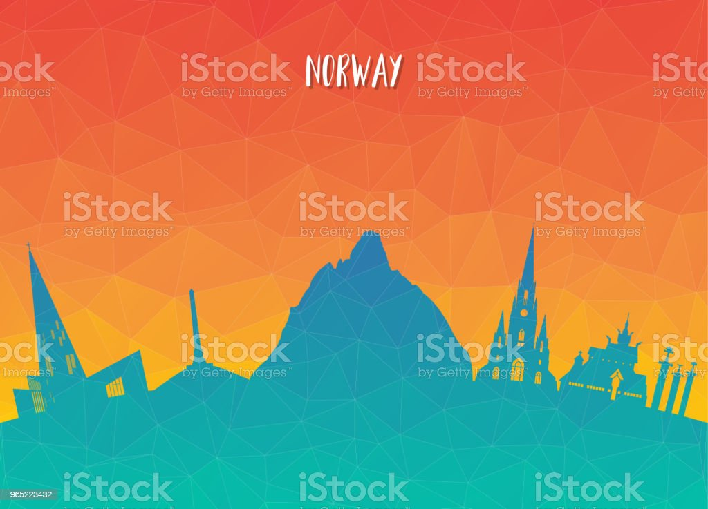 Norway Landmark Global Travel And Journey paper background. Vector Design Template.used for your advertisement, book, banner, template, travel business or presentation. royalty-free norway landmark global travel and journey paper background vector design templateused for your advertisement book banner template travel business or presentation stock illustration - download image now
