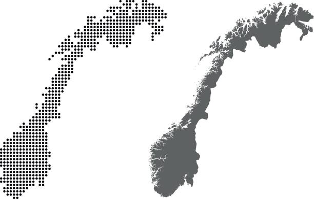 Norway map vector map of Norway norway stock illustrations