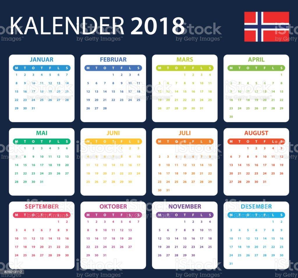 Calendar Norway : Norwegian calendar for scheduler agenda or diary