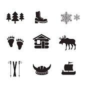 Norwegian icon set.