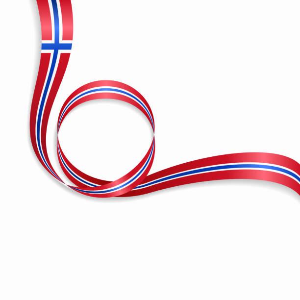 stockillustraties, clipart, cartoons en iconen met noorse golvende vlag achtergrond. vectorillustratie. - noorse vlag