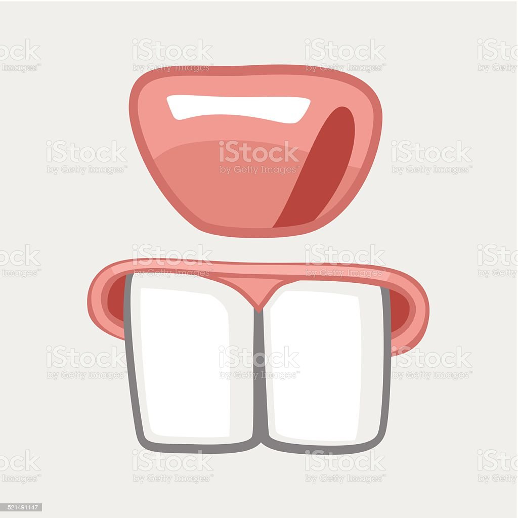 nose and huge teeth hare vector art illustration