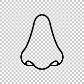 Nose - green vector icon
