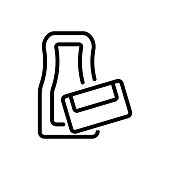 not connected part of car mats icon vector. not connected part of car mats sign. isolated contour symbol illustration
