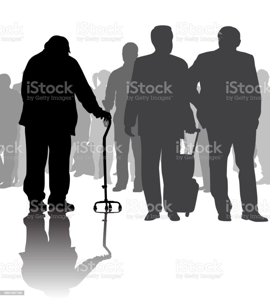 No se siente seguro cruce de peatones - ilustración de arte vectorial