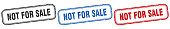 istock not for sale square isolated sign set. not for sale stamp 1300122900