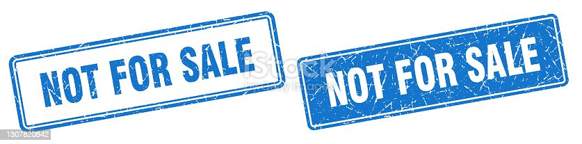 istock not for sale stamp set. not for sale square grunge sign 1307820842