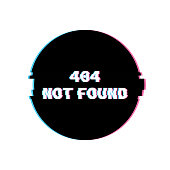 404 Not Found Banner with Glitch Noise Retro Effect