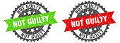 istock not guilty band sign. not guilty grunge stamp set 1300213073