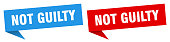 istock not guilty banner. not guilty speech bubble label set. not guilty sign 1271295160
