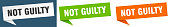 istock not guilty banner. not guilty speech bubble label set. not guilty sign 1290149031