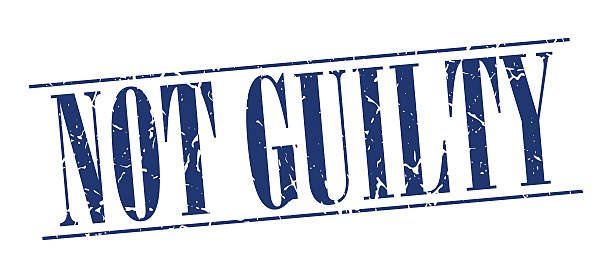 not guilty blue grunge vintage stamp isolated on white background not guilty blue grunge vintage stamp isolated on white background innocence stock illustrations