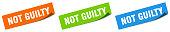 istock not guilty paper peeler sign set. not guilty sticker 1271295177
