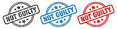 istock not guilty stamp. not guilty round isolated sign. not guilty label set 1300213076