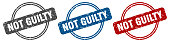 istock not guilty stamp. not guilty sign. not guilty label set 1282451889