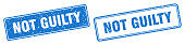 istock not guilty stamp set. not guilty square grunge sign 1307820847