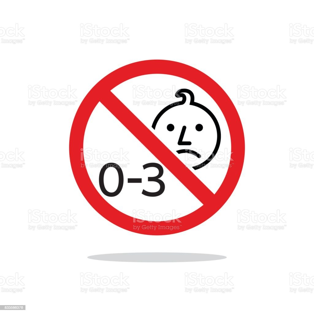 Not For Children Under 3 Years Sku: Not Suitable For Children Under 3 Years Sign Vector Design