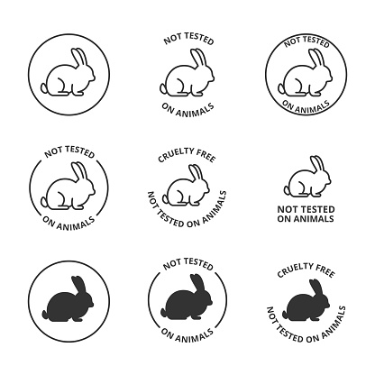 Not tested on animals, cruelty free icons