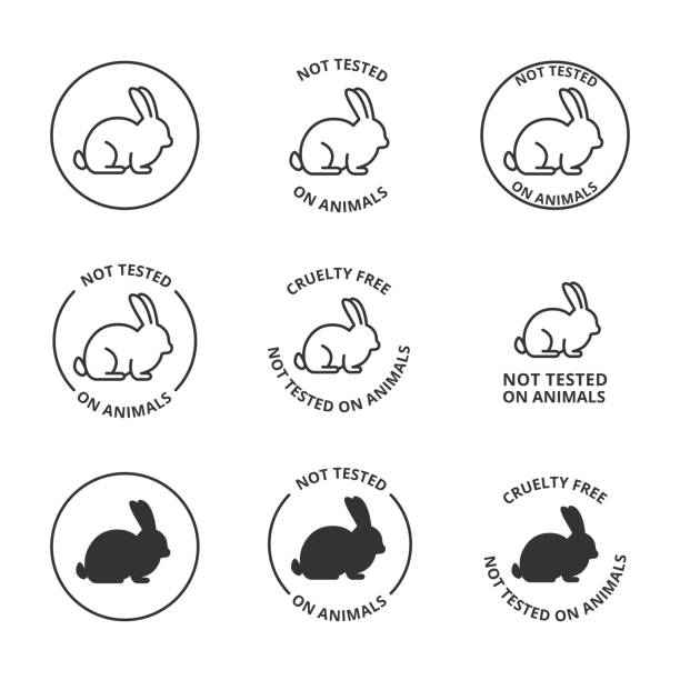 Not tested on animals, cruelty free icons Not tested on animals, cruelty free icons freedom stock illustrations