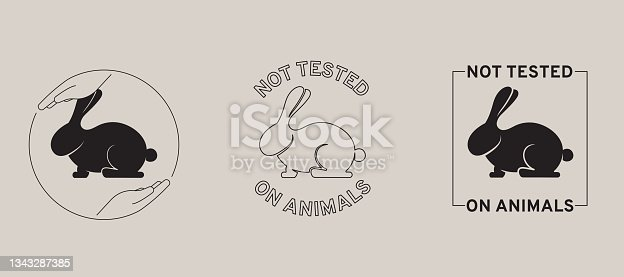 istock Not tested on animals, icon set 1343287385