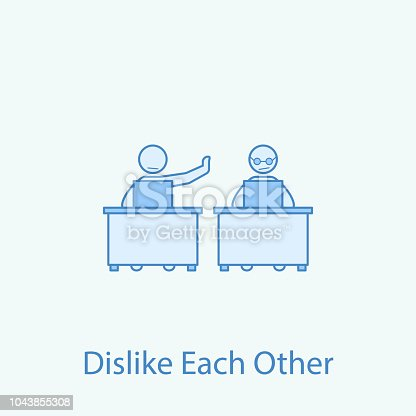 istock not to love work colleague 2 colored line icon. Simple colored element illustration. Outline symbol design from colleague and business partners set 1043855308