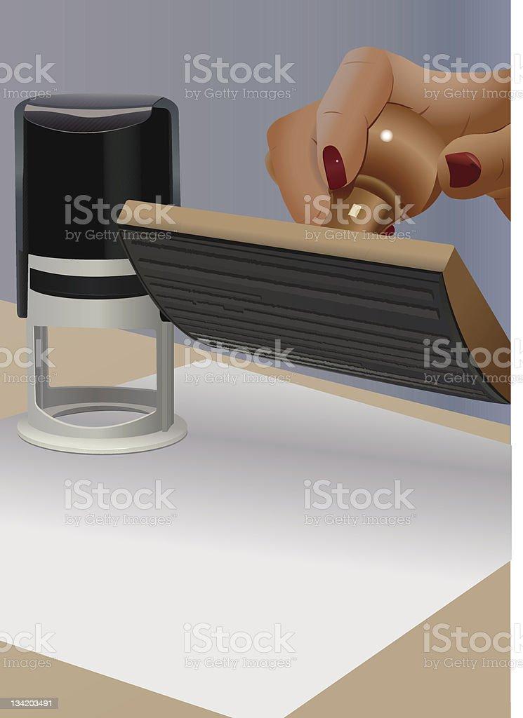 notary vector art illustration