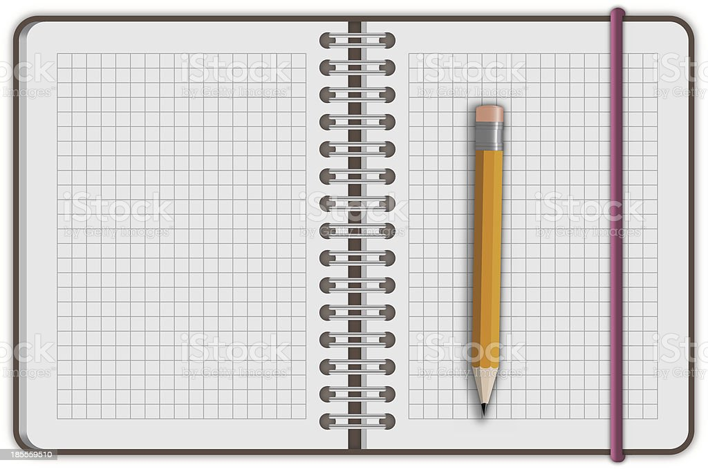 note book paper with pen royalty-free stock vector art