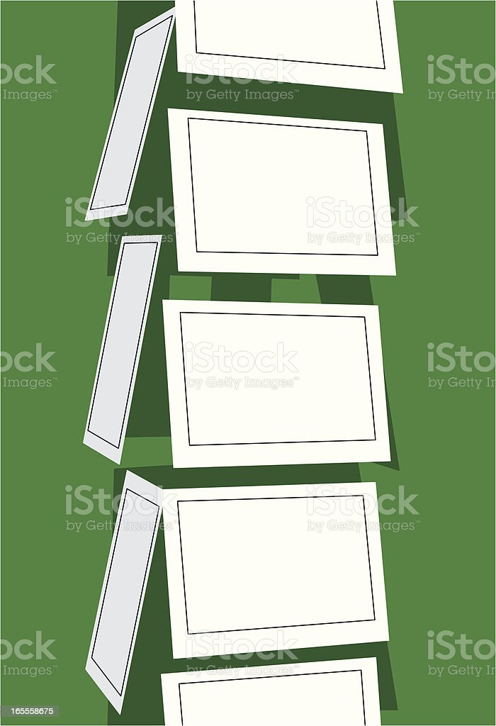Note Card Rack royalty-free stock vector art