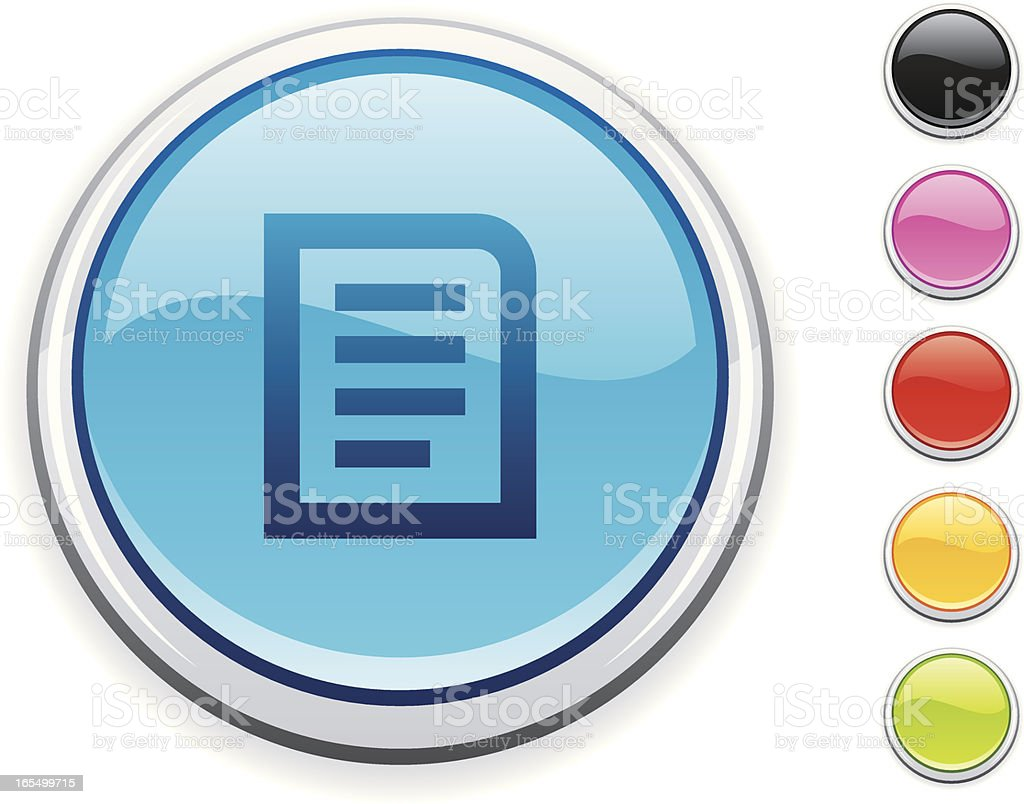 Note icon royalty-free stock vector art