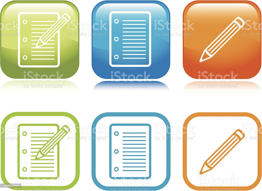 Note Pad Icons royalty-free note pad icons stock vector art & more images of blue