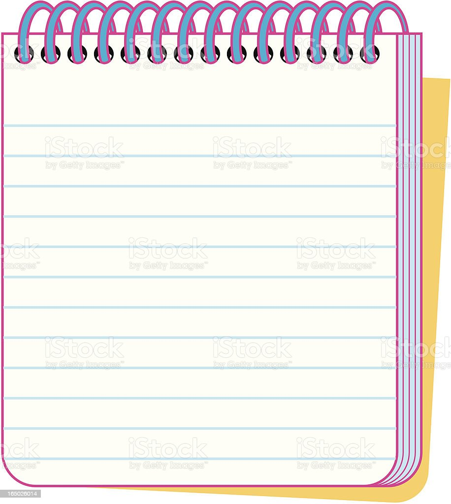 Note Pad royalty-free note pad stock vector art & more images of book