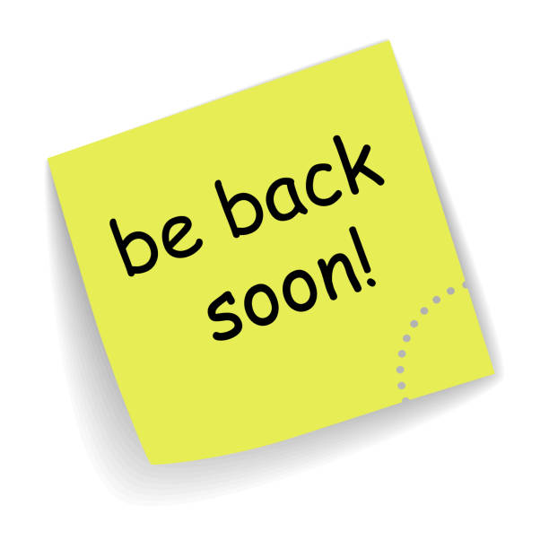 114 Be Back Soon Illustrations & Clip Art - iStock