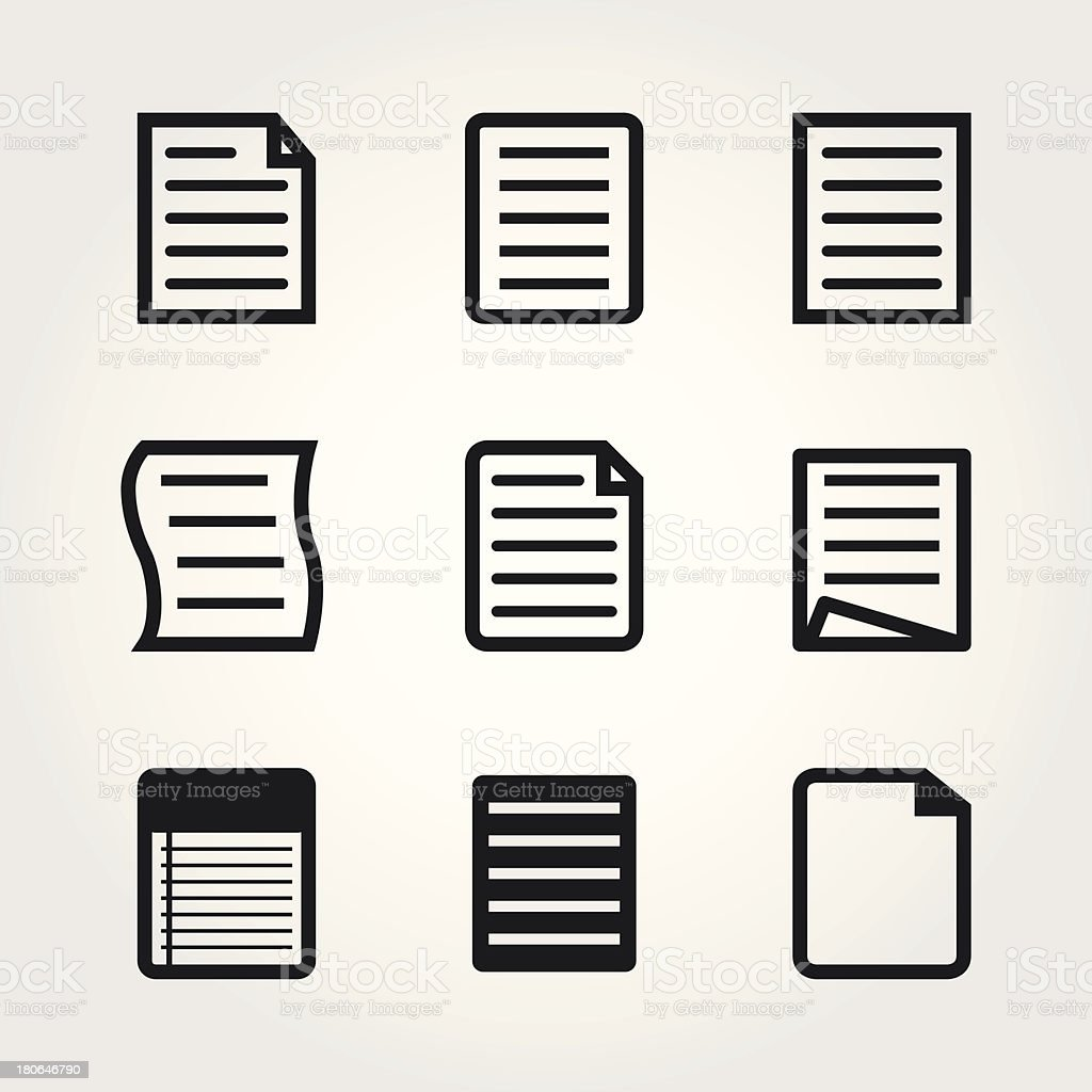 note paper icons royalty-free note paper icons stock vector art & more images of book