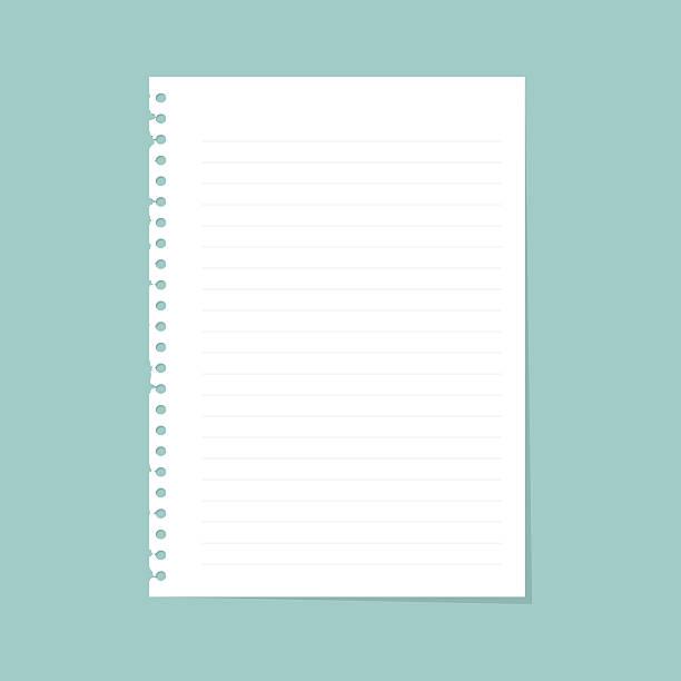 hinweis papier mit line - schriftnachricht stock-grafiken, -clipart, -cartoons und -symbole
