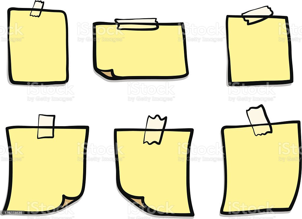 note papers royalty-free note papers stock vector art & more images of adhesive note
