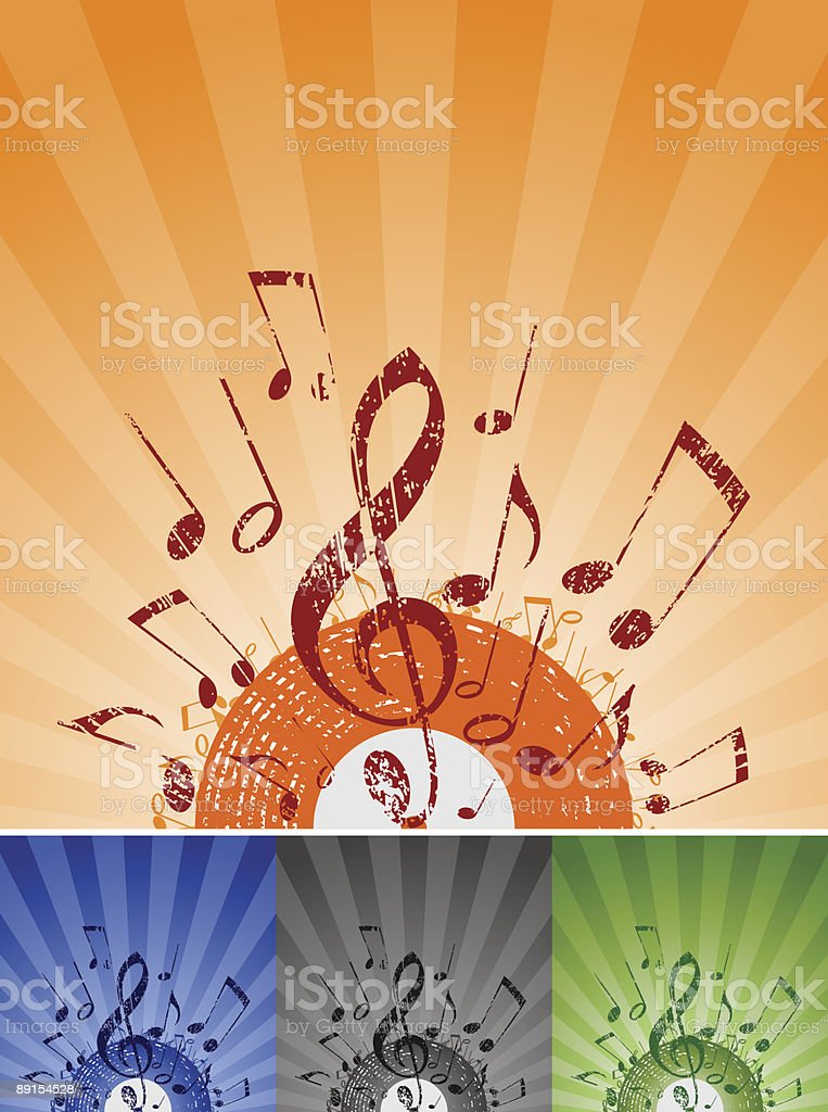 note rays royalty-free stock vector art