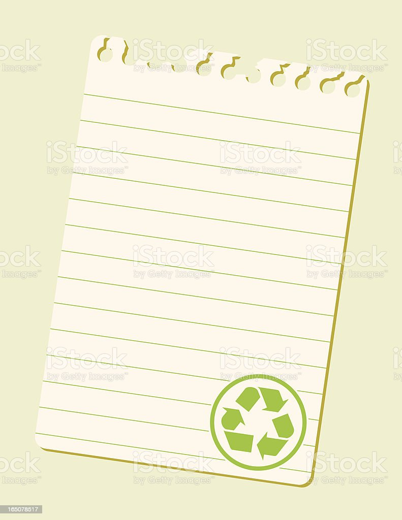 Note Recycle royalty-free stock vector art